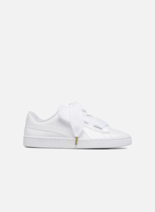 Sneakers Puma Basket Heart Patent Wn's Wit achterkant