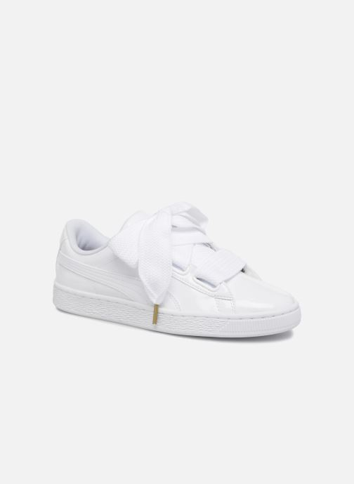 puma - patent basket heart - baskets - blanc