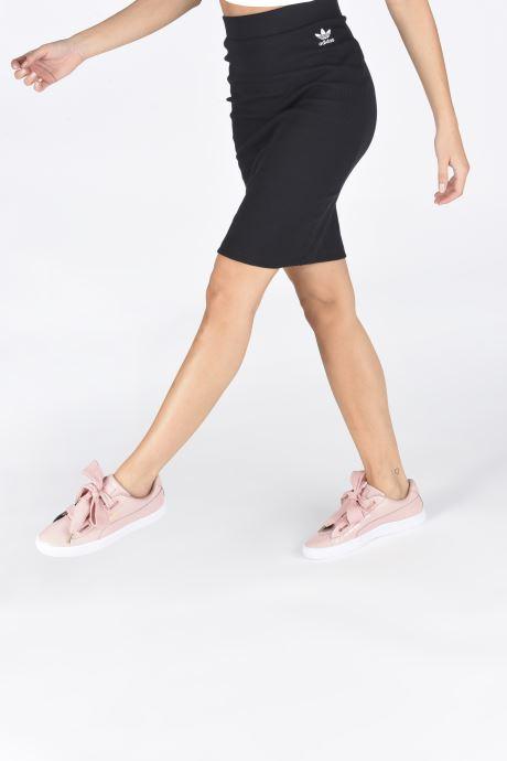 Sneaker Puma Basket Heart Patent Wn's rosa ansicht von unten / tasche getragen
