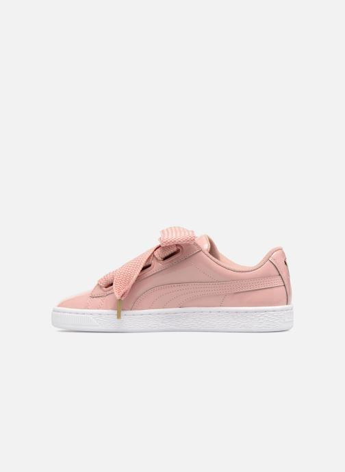 Sneaker Puma Basket Heart Patent Wn's rosa ansicht von vorne