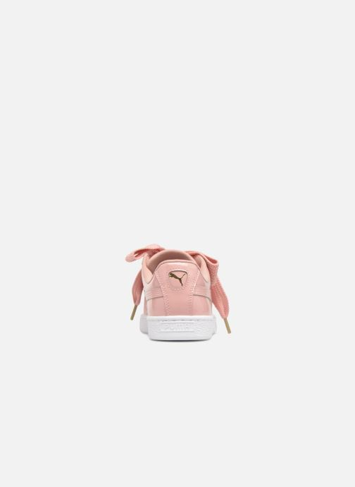 Sneaker Puma Basket Heart Patent Wn's rosa ansicht von rechts