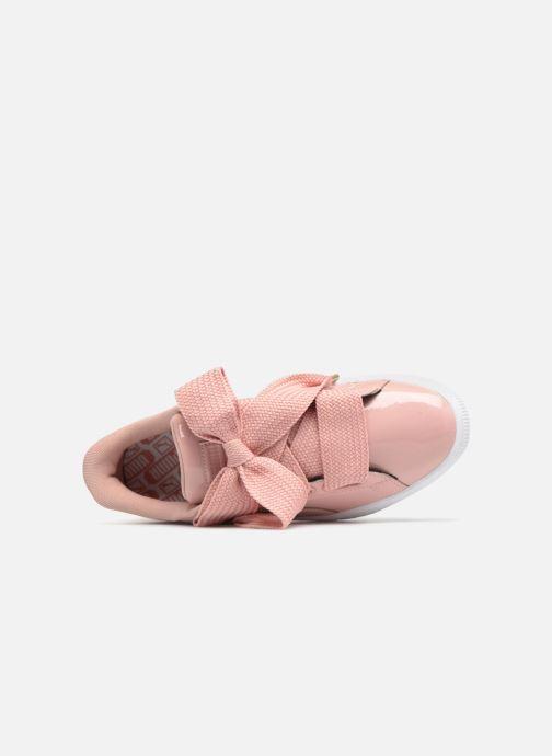 Sneaker Puma Basket Heart Patent Wn's rosa ansicht von hinten