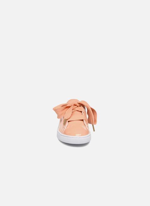 Baskets Puma Basket Heart Patent Wn's Orange vue portées chaussures