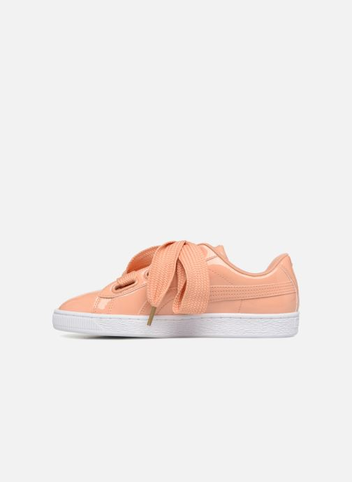 Trainers Puma Basket Heart Patent Wn's Orange front view
