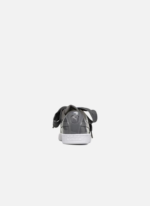Deportivas Puma Basket Heart Patent Wn's Gris vista lateral derecha