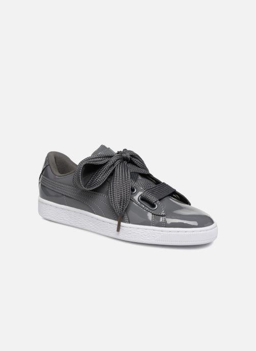 Sneakers Puma Basket Heart Patent Wn's Grigio vedi dettaglio/paio