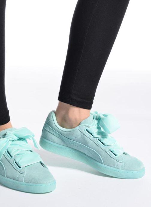 Sneakers Puma Suede Heart Reset Wn's Rosa immagine dal basso