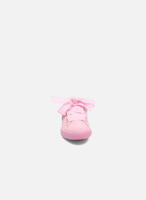 Baskets Puma Suede Heart Reset Wn's Rose vue portées chaussures