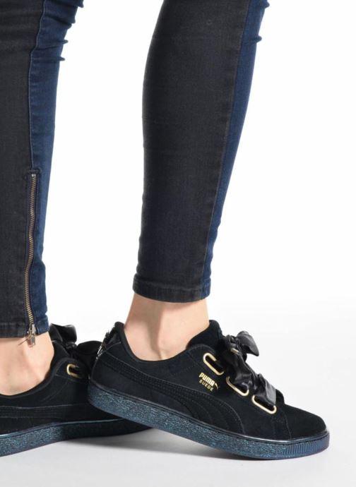 Sneakers Puma Suede Heart Satin Wn's Nero immagine dal basso