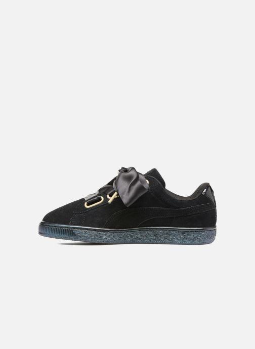 Sneakers Puma Suede Heart Satin Wn's Nero immagine frontale