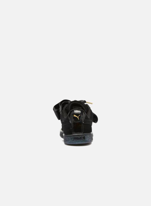 Sneakers Puma Suede Heart Satin Wn's Nero immagine destra