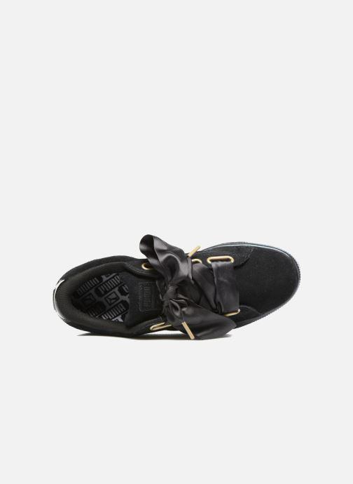 Sneakers Puma Suede Heart Satin Wn's Nero immagine sinistra