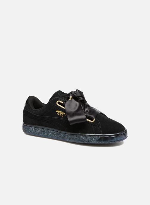 39d17bb24b9 Puma Suede Heart Satin Wn's (Zwart) - Sneakers chez Sarenza (290043)