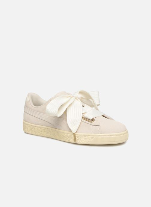 Sneakers Puma Suede Heart Satin Wn's Beige immagine 3/4