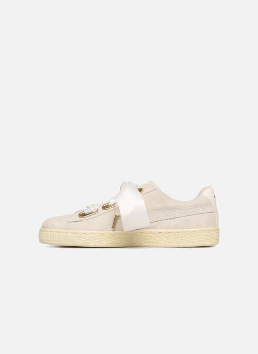 Sneaker Puma Suede Heart Satin Wn's beige ansicht von vorne