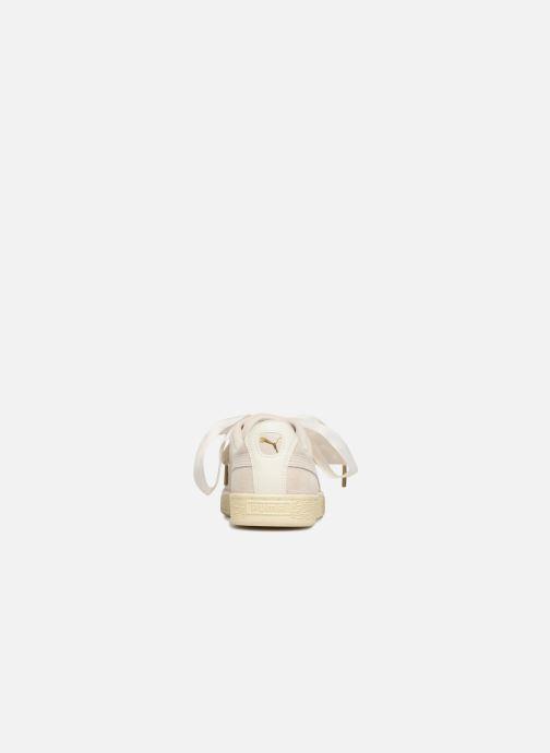 Sneaker Puma Suede Heart Satin Wn's beige ansicht von rechts