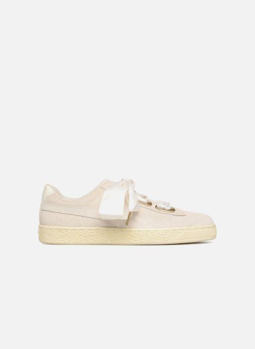 Sneaker Puma Suede Heart Satin Wn's beige ansicht von hinten
