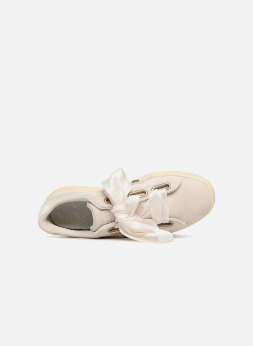Sneaker Puma Suede Heart Satin Wn's beige ansicht von links