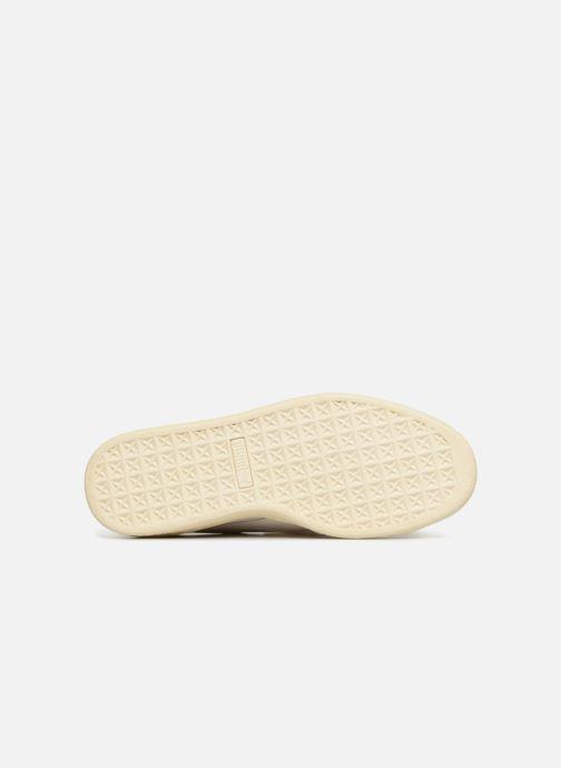 Baskets Puma Suede Heart Satin Wn's Beige vue haut