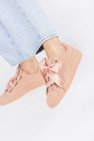 Trainers Women Suede Heart Satin Wn's