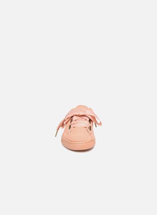 Baskets Puma Suede Heart Satin Wn's Orange vue portées chaussures