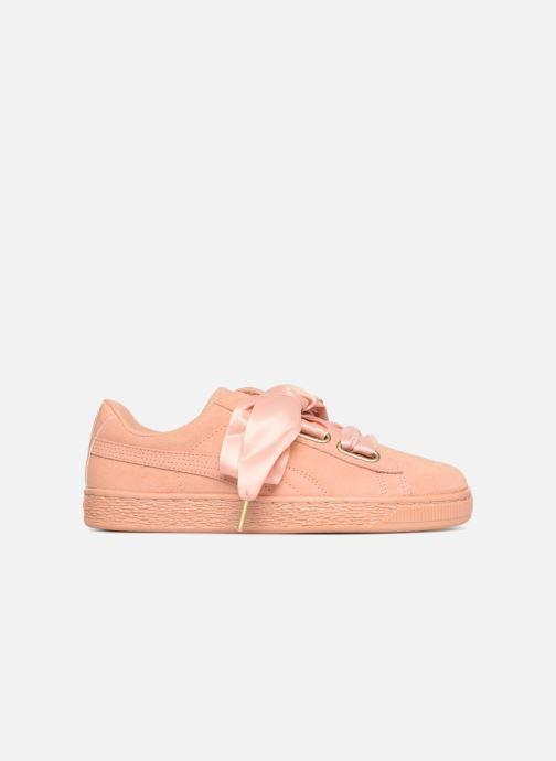 Sneaker Puma Suede Heart Satin Wn's orange ansicht von hinten