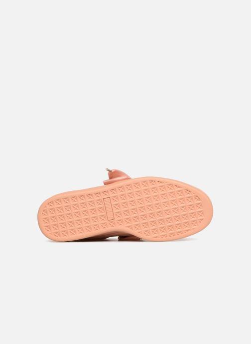 Sneaker Puma Suede Heart Satin Wn's orange ansicht von oben