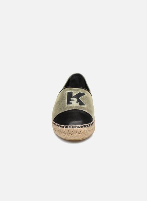 Espadrilles Karl Lagerfeld Karl Leather Espadrille Or et bronze vue portées chaussures