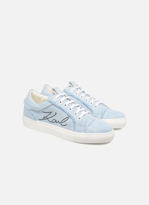 Baskets KARL LAGERFELD Denim Sneaker Bleu vue 3/4