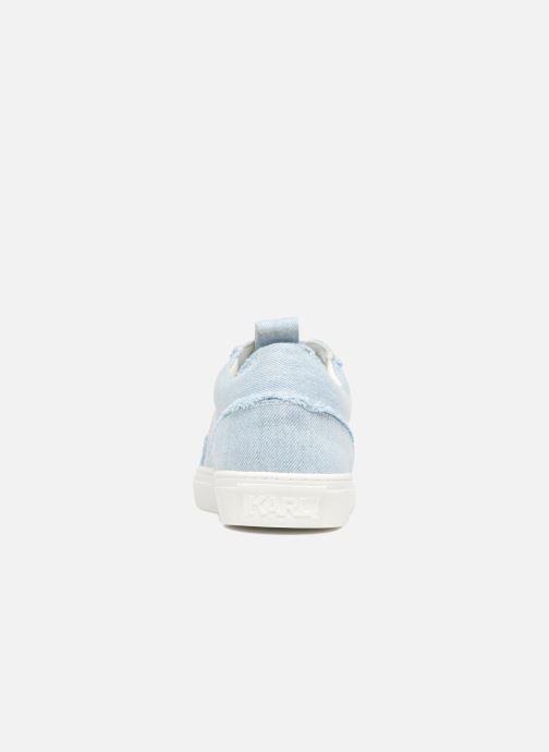 Baskets Karl Lagerfeld Denim Sneaker Bleu vue droite