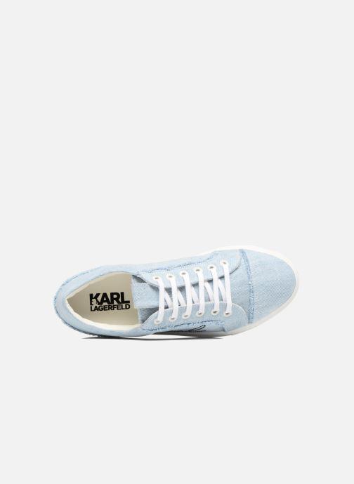 Baskets KARL LAGERFELD Denim Sneaker Bleu vue gauche