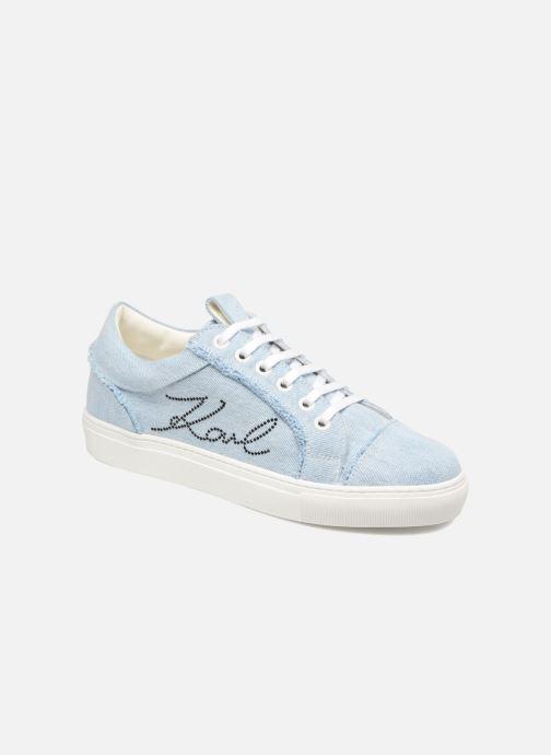 Baskets Karl Lagerfeld Denim Sneaker Bleu vue détail/paire