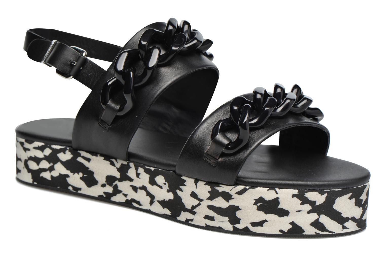 karl lagerfeld plexi 'plate 'plate plexi - forme sandale (noir) - sandales chez (290094) 46bbf3