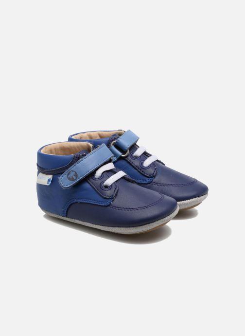 Pantuflas Robeez Follow me Baby Azul vista de detalle / par