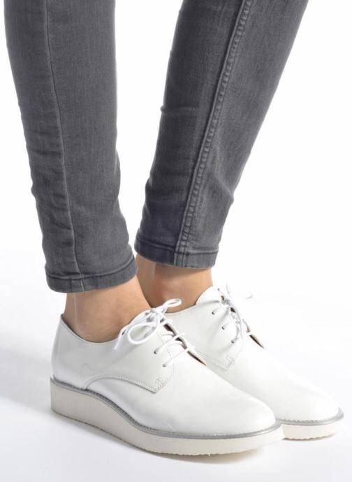 Zapatos con cordones Made by SARENZA Vegas Lipstick #10 Blanco vista de abajo