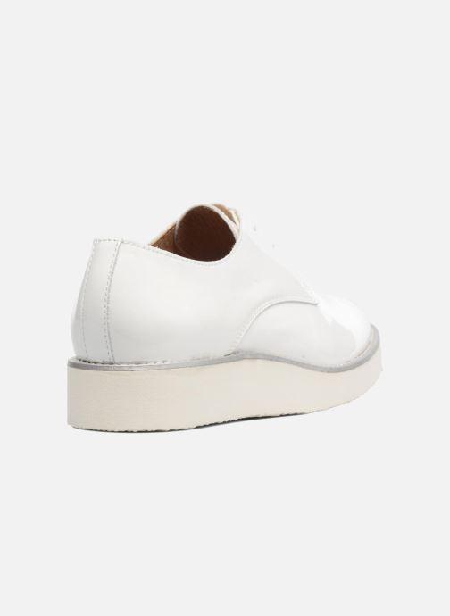 Zapatos con cordones Made by SARENZA Vegas Lipstick #10 Blanco vista de frente