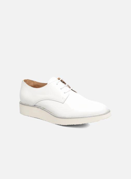 Zapatos con cordones Made by SARENZA Vegas Lipstick #10 Blanco vista lateral derecha