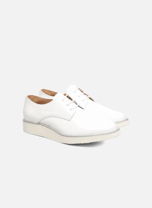 Zapatos con cordones Made by SARENZA Vegas Lipstick #10 Blanco vistra trasera