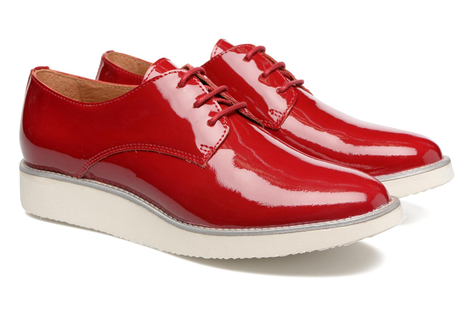 Lace-up shoes Made by SARENZA Vegas Lipstick #10 Red back view