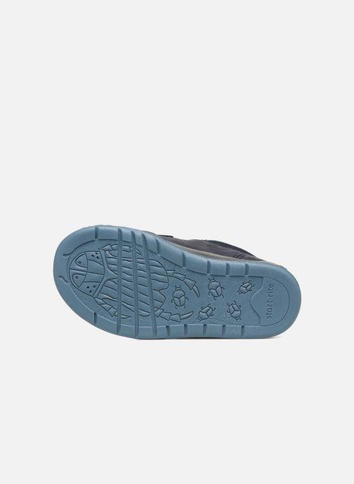 Chaussures à scratch Start Rite Beetlebug Bleu vue haut