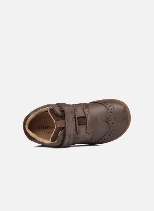 Chaussures à scratch Start Rite SR Super Soft Hugo Marron vue gauche