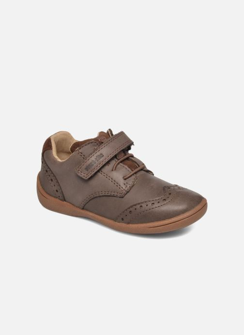 Chaussures à scratch Start Rite SR Super Soft Hugo Marron vue détail/paire