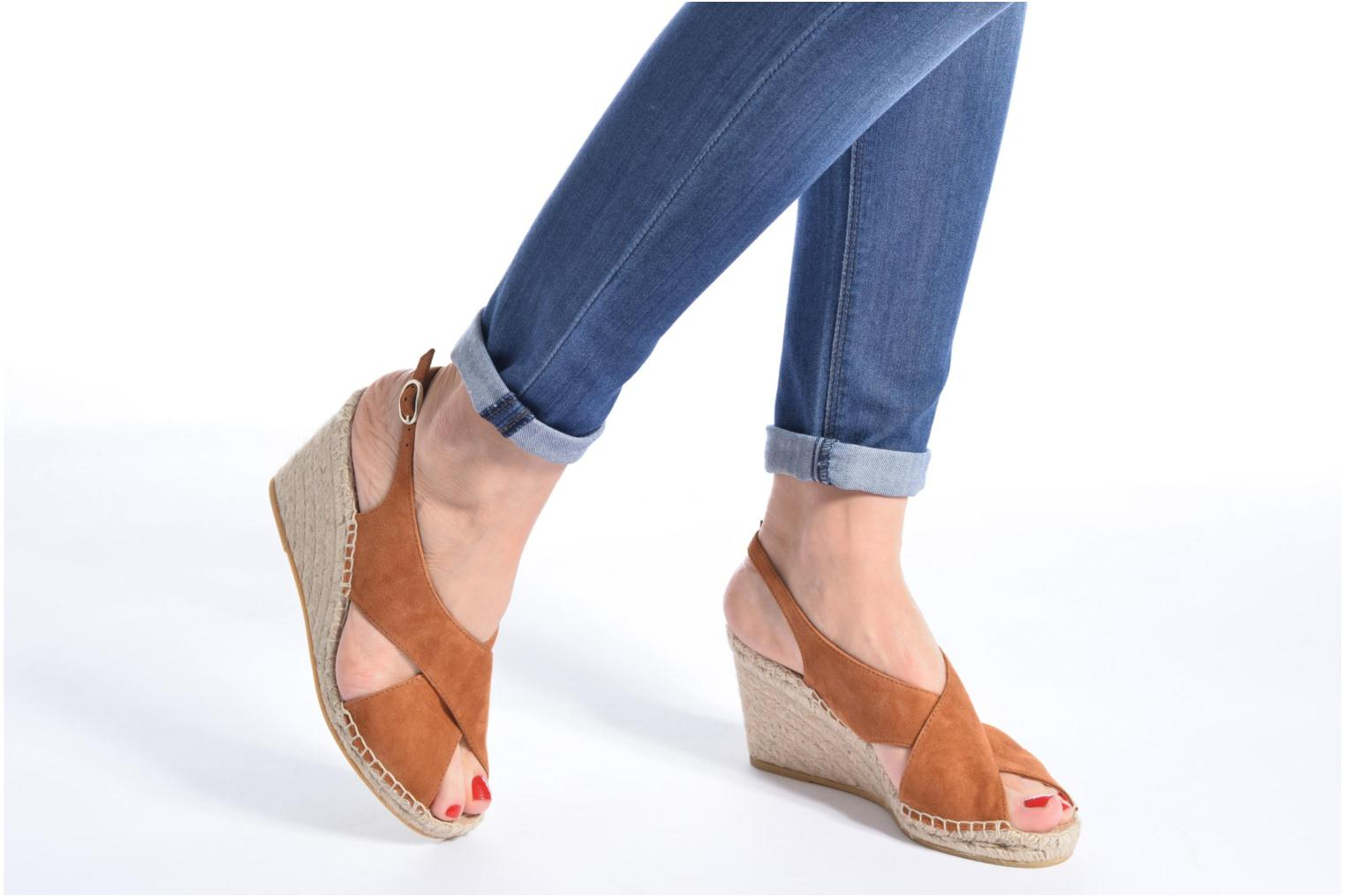 Espadrilles Georgia Rose Dacroi Brown view from underneath / model view