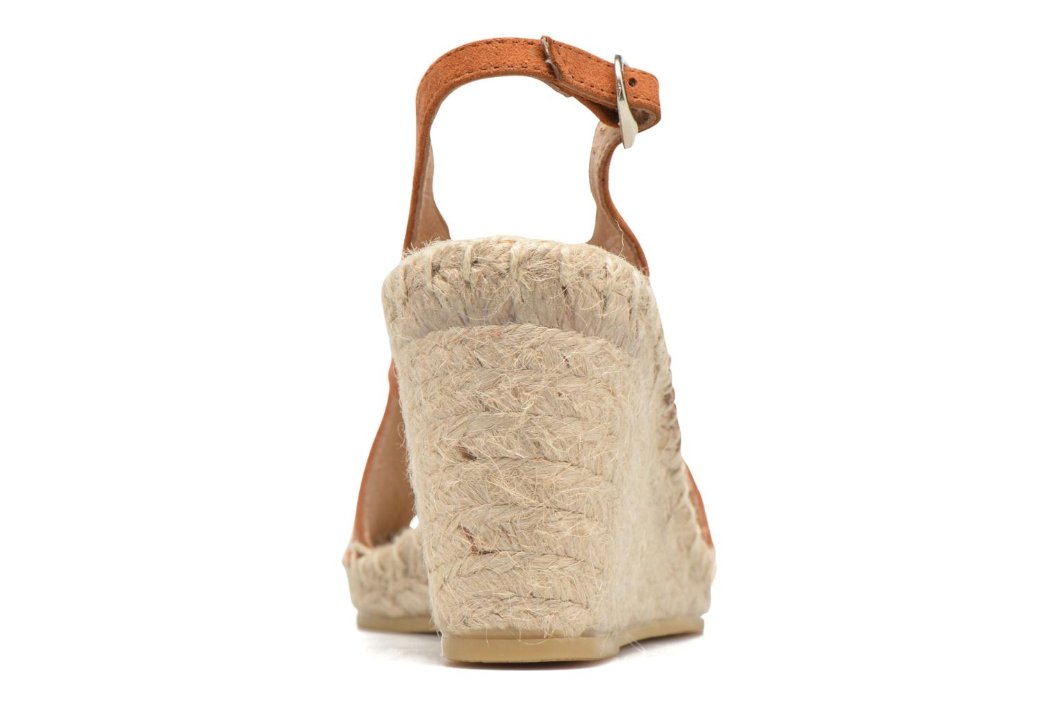 Espadrilles Georgia Rose Dacroi Brown view from the right