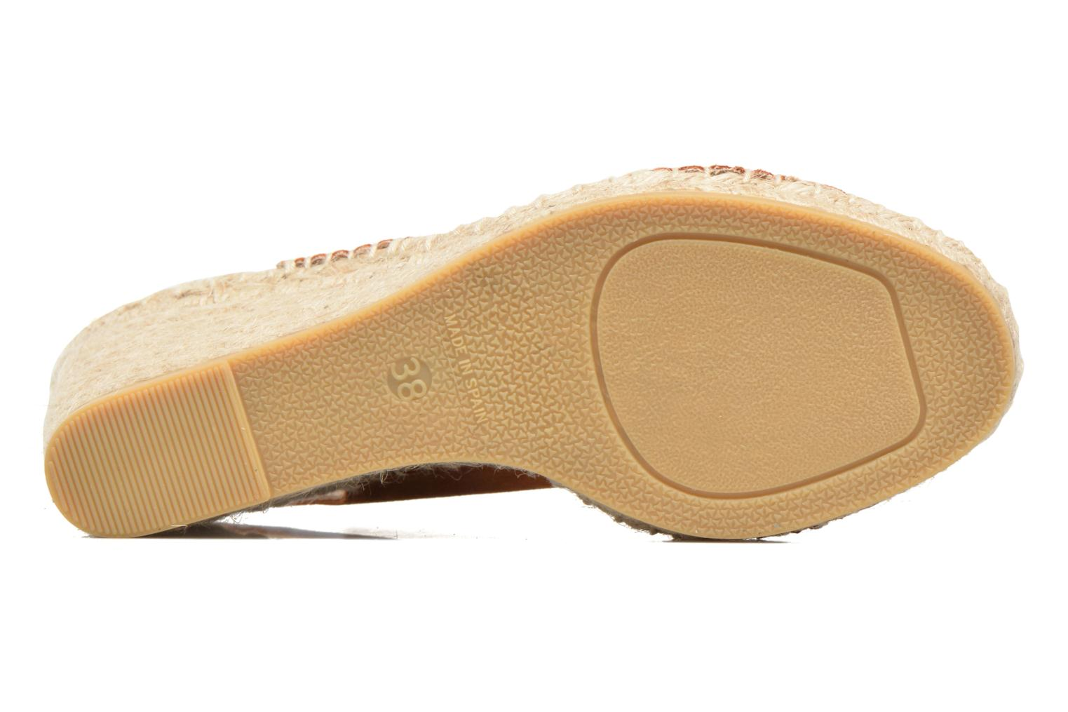 Espadrilles Georgia Rose Dacroi Brown view from above