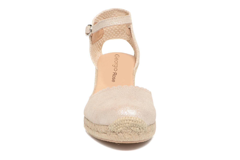 Espadrilles Georgia Rose Dasouplette Or et bronze vue portées chaussures