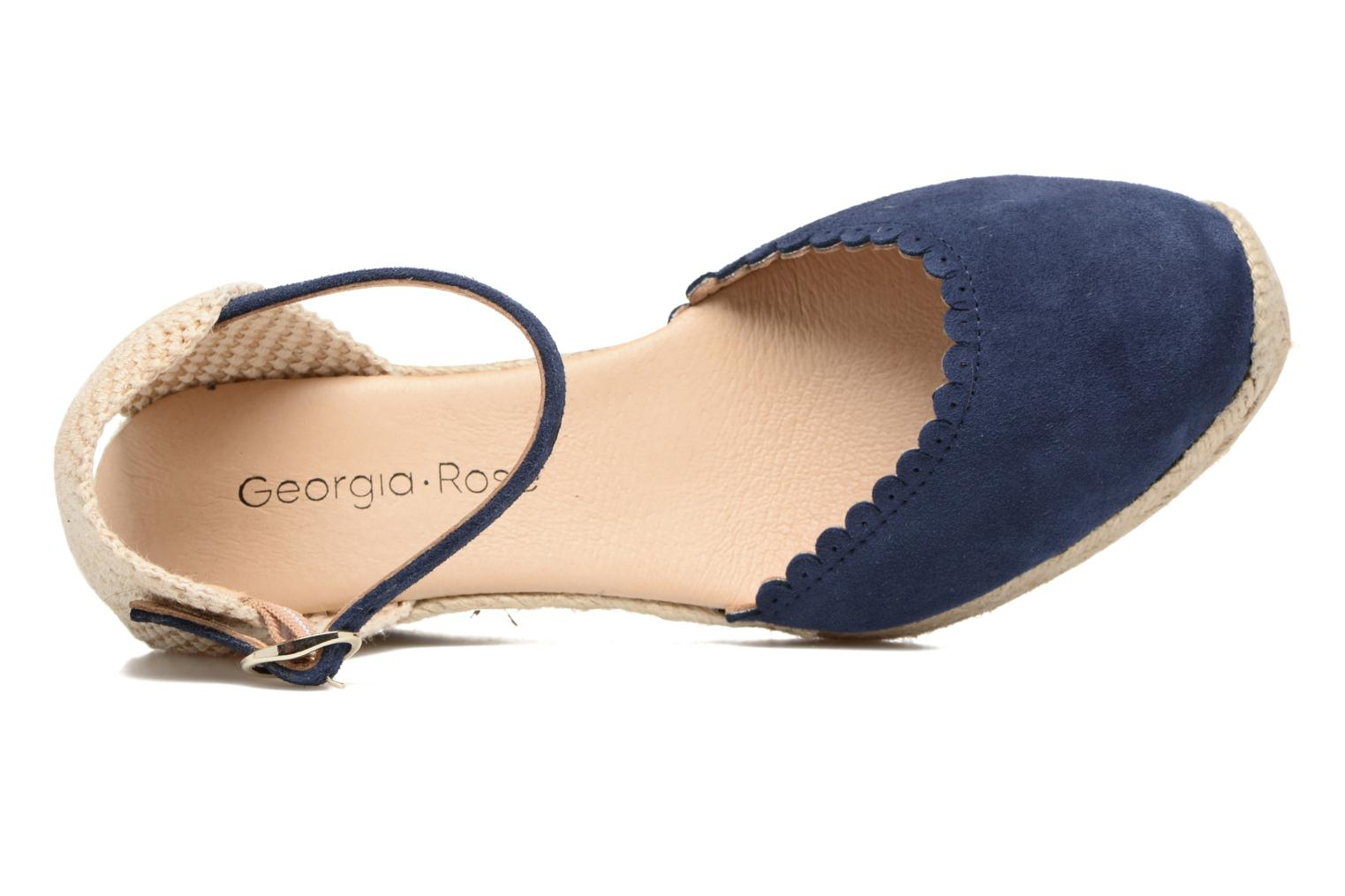 Espadrilles Georgia Rose Dasouplette Blue view from the left
