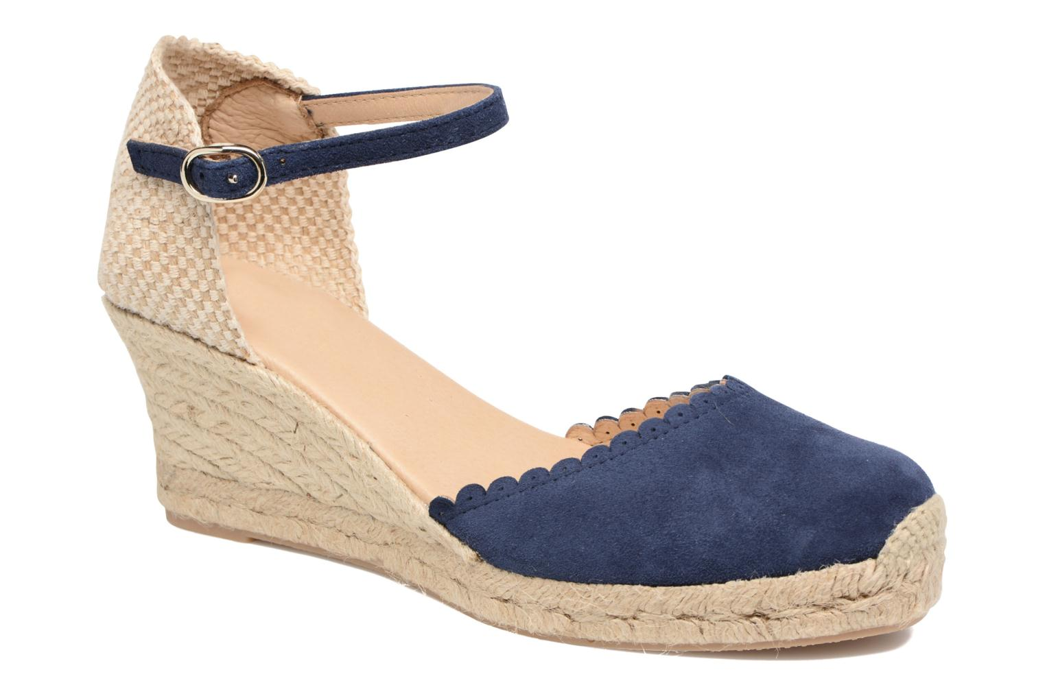 Espadrilles Georgia Rose Dasouplette Blue detailed view/ Pair view
