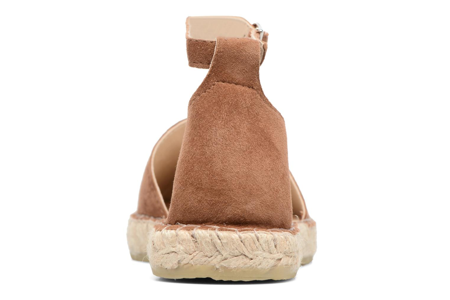 Espadrilles Georgia Rose Idalore Brown view from the right