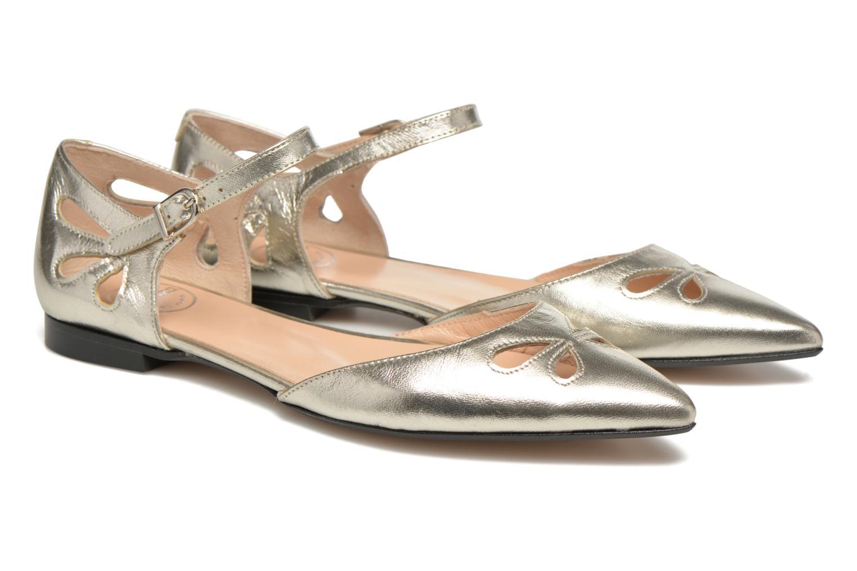 Ballet pumps Made by SARENZA Vegas Lipstick #2 Silver back view